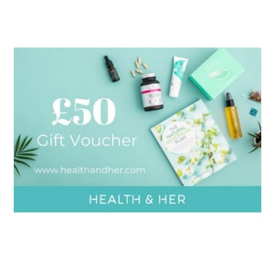 £50 to evoucher gift card to spend at Health & Her