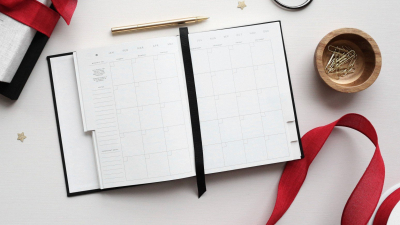 Period diary on a table