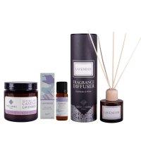 Calming Lavender Gift Set - Lavender Diffuser, Lavender Candle, and Lavender Essential Oil
