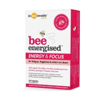 UNBEELIEVABLE HEALTH BEE ENERGISED SUPPLEMENTS 20 CAPS