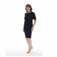 Esteem No Pause Cooling T-Shirt Nightie - Black