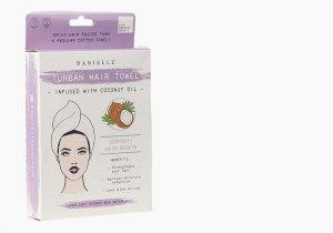 Coconut oil infused hair turban